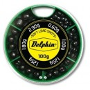 Грузила-дробинки Delphin Soft Lead Shots / 100g - Green box